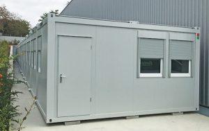container aménagé en bureaux