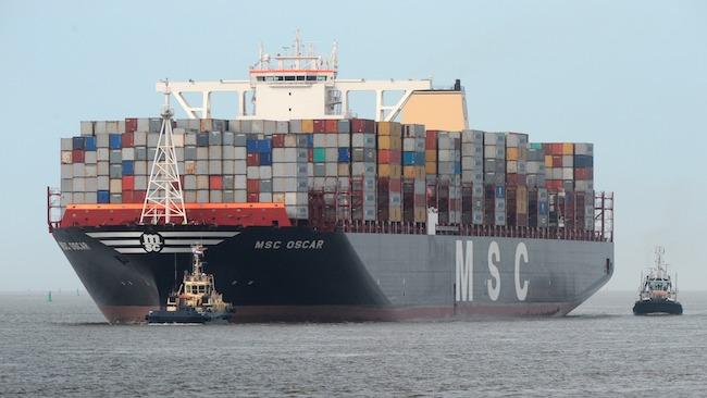 l'équivalent de 1922 containers maritimes de 20 pieds à bord d'Oscar