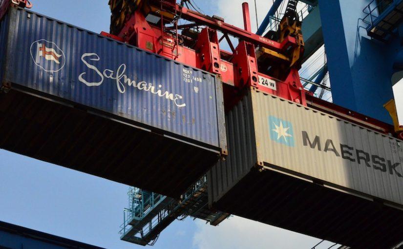 Grue porte container occasion