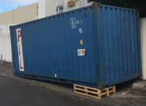 stockage conteneur maritime 20 pieds